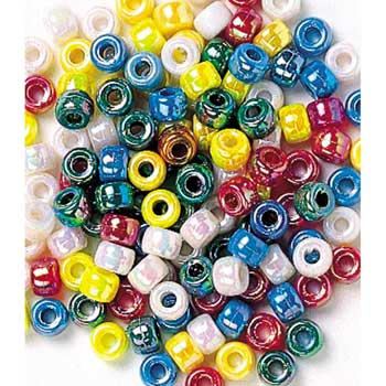 Pony Beads, Metallic, 500/PK