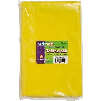 Creativity Street® Yellow Vinyl Tablecloth