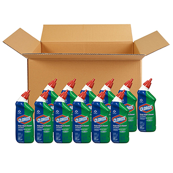 Toilet Bowl Cleaner with Bleach, Fresh Scent, 24 oz, 12 Bottles/Carton