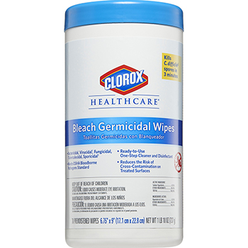 Bleach Germicidal Wipes, 70 Count Canister