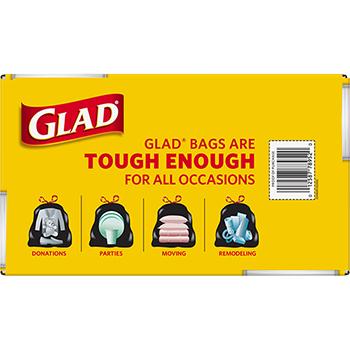 Drawstring Large Trash Bags, 30 x 33, 30gal, 1.1mil, Black, 90/Carton