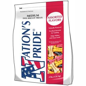 Nation's Pride™ Dog Biscuits, Medium Size, 4 lb. Bag