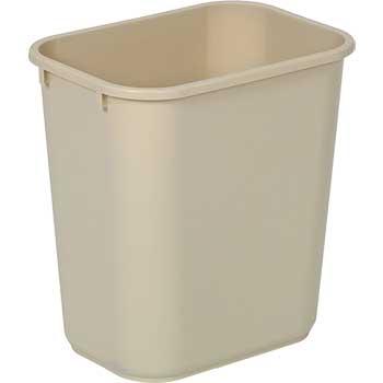 Commercial Wastebasket, Beige