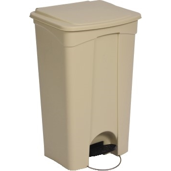 Continental® Commercial Products Step-On Container, Plastic, 23 gal., Beige