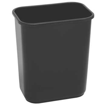 Commercial Wastebasket, Black
