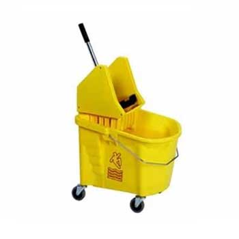 Continental® Commercial Products Splash Guard Combo Pack, 35 qt, Yellow, Downward Press