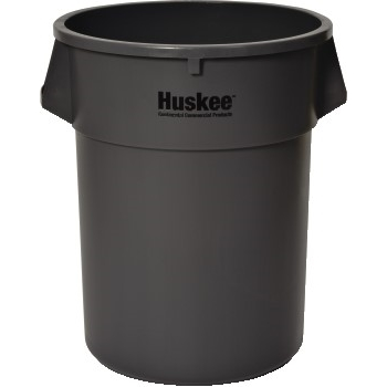 Huskee™ Round Receptacle, 55 gal., Gray