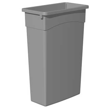 Continental® Waste Receptacle, 23 gal, Gray