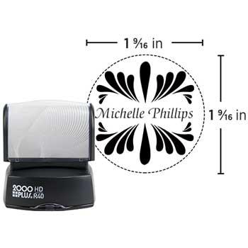 "2000 Plus® HD Custom Pre-Inked Stamp, HDR40, Custom Message, Five Colors, 1 9/16"" dia."