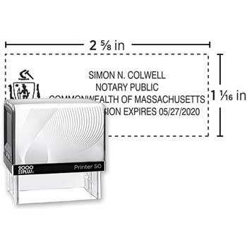 COSCO 2000PLUS® Custom Self-Inking Notary Stamp, P50