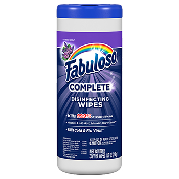 Fabuloso® Complete Disinfecting Wipes, Lavender, 35 Wipes/Bottle, 8 Bottles/CS