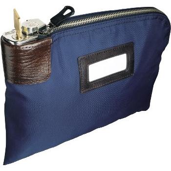 """CONTROLTEK® 7-Pin Locking Night Deposit Bag, 8 1/2"""" x 11"""", Blue"""