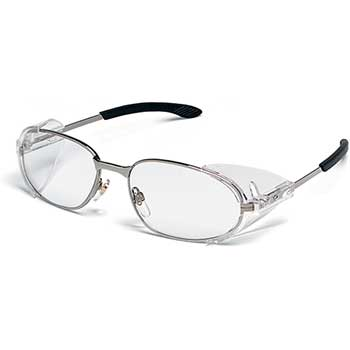 MCR™ Safety RT2® Rattler 2 Chrome Frame Glasses, Clear Lens