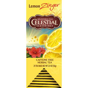 Celestial Seasonings® Lemon Zinger Tea Bags, 25/BX