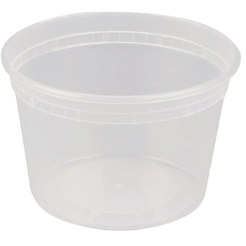 Deli Container, Polypropylene, Clear, 16 oz., 500/CT