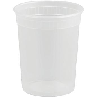 Deli Container, Polypropylene, Clear, 32 oz., 500/CS