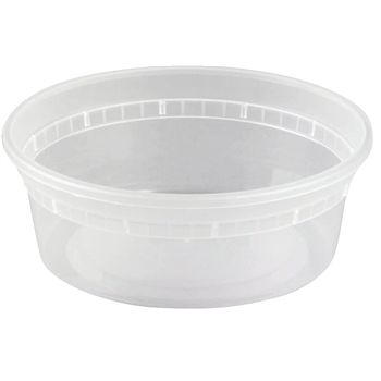 Crystalware Deli Container, Polypropylene, Clear, 8 oz., 500/CS