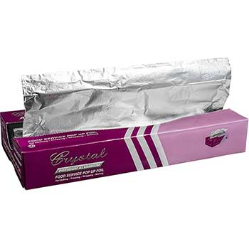 "Crystalware Aluminum Pop-Up Foil, 9"" x 10.75"", 3000/CS"
