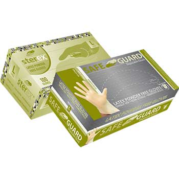 Powder-Free Latex Exam Gloves, Large, 100/BX