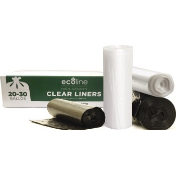 "Crystalware Can Liners, 27"" x 35"", 10 mic nominal, 20-30 gal., Clear, 500/CT"