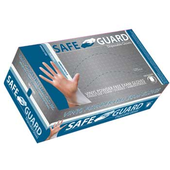 Powder-Free Exam Gloves, Vinyl, Small, 100/BX