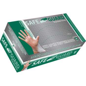 Safe Guard Powdered General Purpose Gloves, Vinyl, Medium, 100/BX