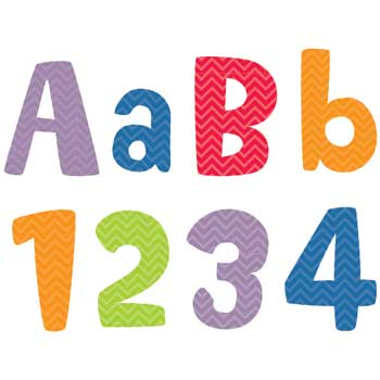 "Creative Teaching Press Chevron Solids 4"" Designer Letters"