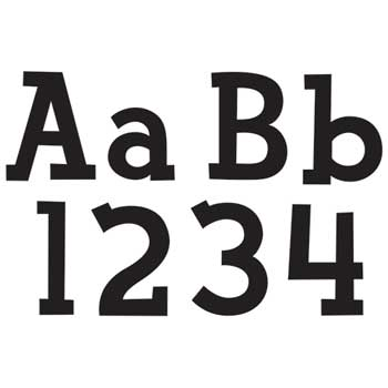 "Creative Teaching Press Designer Letters, Fancy Black, 4"""