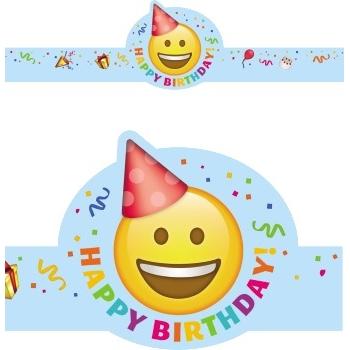 Creative Teaching Press Happy Birthday Emoji Crowns, 30/PK