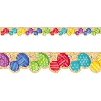 Creative Teaching Press Bold & Bright Push Pins Border Pack
