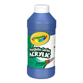 Crayola® Portfolio Series Acrylic Paint, 16 oz. Bottle, Phthalo Blue