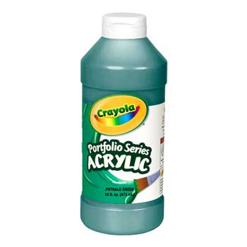 Crayola® Portfolio Series Acrylic Paint, 16 oz. Bottle, Phthalo Green