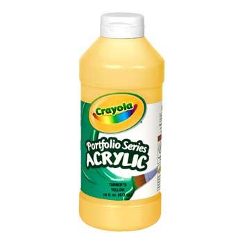 Crayola® Portfolio Series Acrylic Paint, 16 oz. Bottle, Turner's Yellow