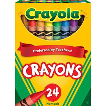 Crayola® Crayons, Tuck Box, 24/BX