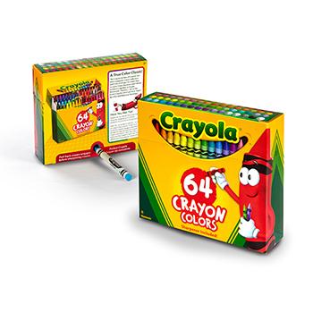 Crayola® Crayons, Non-Peggable, 64/PK
