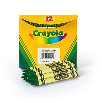 Crayola® Bulk Crayons, Regular Size, Green, 12/BX