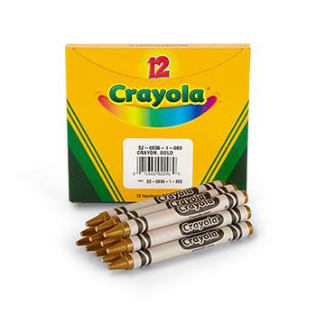 Crayola® Bulk Crayons, Regular Size, Gold, 12/BX