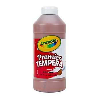 Crayola® Premier Tempera Paint, 16 oz. Bottle, Brown