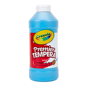 Premier Tempera Paint, 16 oz. Bottle, Turquoise
