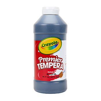Crayola® Premier Tempera Paint, 16 oz. Bottle, Black