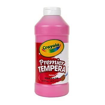 Crayola® Premier Tempera Paint, 16 oz. Bottle, Magenta