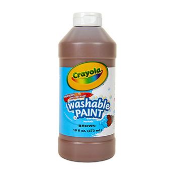 Crayola® Washable Paint, 16 oz. Bottle, Brown