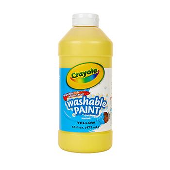 Washable Paint, 16 oz. Bottle, Yellow