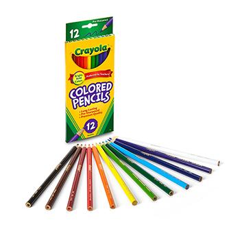 Colored Pencils, Long, 12/ST