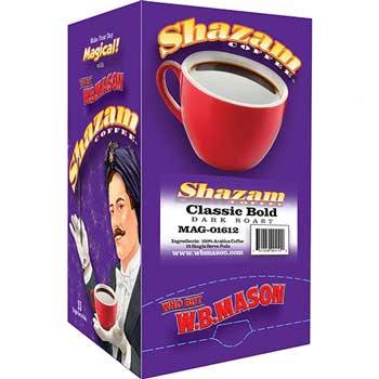 Shazam™ Coffee Pods, Classic Bold, Dark Roast, 15/BX