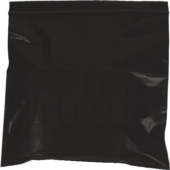 "Reclosable 2 Mil Poly Bags, 12"" x 15"", Black, 1000/CS"