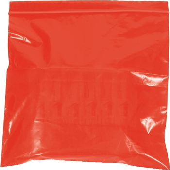 """Reclosable 2 Mil Poly Bags, 9"""" x 12"""", Red, 1000/CS"""