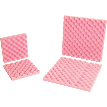"W.B. Mason Co. Anti-Static Convoluted Foam Sets, 12"" x 12"" x 2"", Pink, 24/Sets per Case"