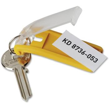 Durable® Key Tag, Plastic, Assorted Colors, 24/PK