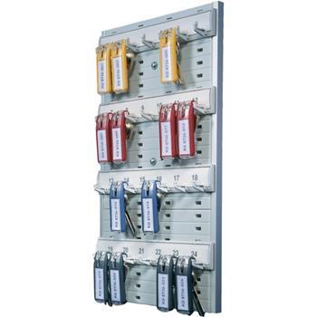 "Durable® Open 24-Key Rack, Gray, Plastic, 8-2/5"" W x 14-3/10"" H x 1-3/10"" D"